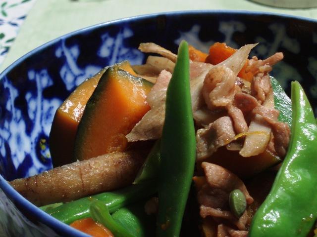 新南瓜と牛蒡の煮物